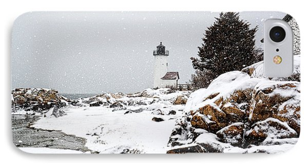 Annisquam Light-snow Storm IPhone Case