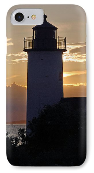 Annisquam Lighthouse Sunset IPhone Case by Richard Bryce and Family