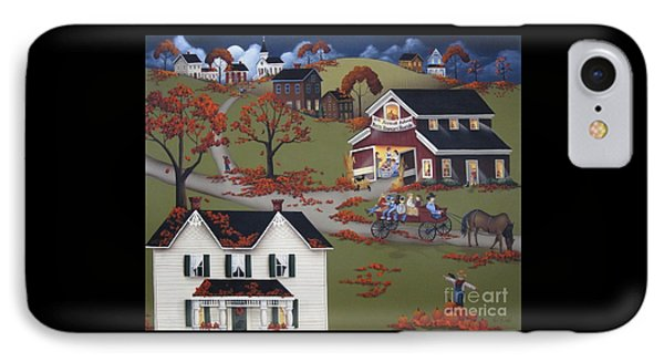 Annual Barn Dance And Hayride IPhone Case by Catherine Holman