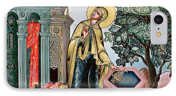 Annunciation At The Fountain IPhone Case by Russian School