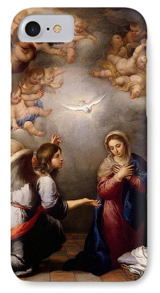 Annunciation IPhone Case by Murillo
