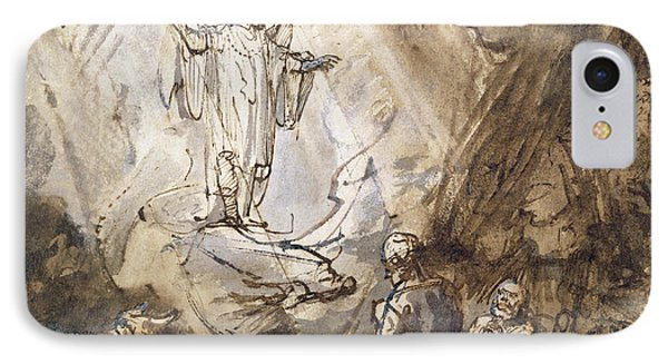 Annunciation To The Shepherds IPhone Case by Rembrandt