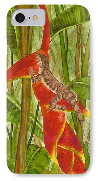 Anolis Humilis IPhone Case by Cindy Hitchcock