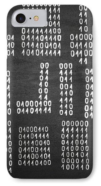 Anonymous - Binary Painting By Marianna Mills IPhone Case by Marianna Mills
