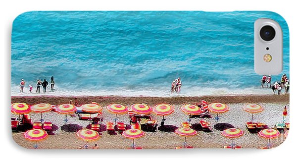 Another Day In Paradise-positano-digitized IPhone Case by Jennie Breeze
