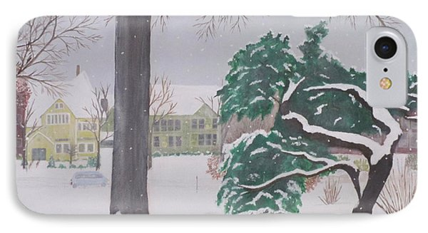 IPhone Case featuring the painting Another Snow Fall by Hilda and Jose Garrancho