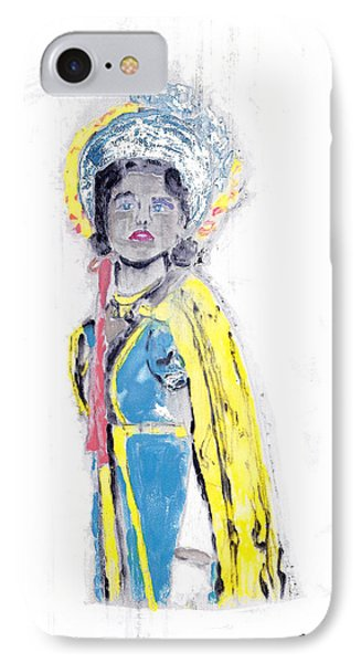 Another Time Monoprint IPhone Case by Verana Stark