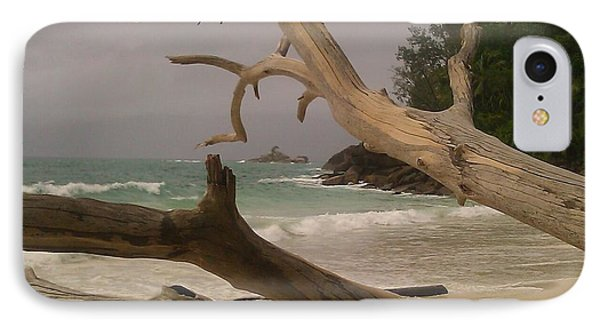 Anse Soleil Beach IPhone Case by Ted Williams