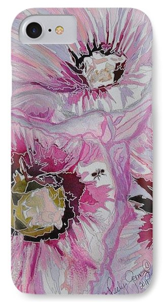 Ant Exploring Hollyhock Phone Case by Jo Anne Neely Gomez