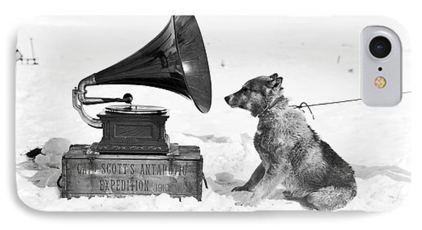 Antarctic Sled Dog And Gramophone IPhone Case by Scott Polar Research Institute