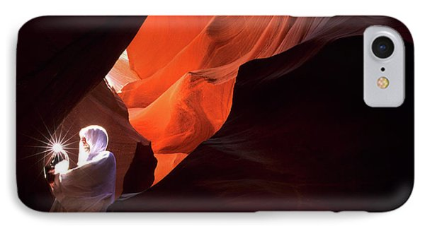 Antelope Canyon Keeper Of The Light Phone Case by Bob Christopher