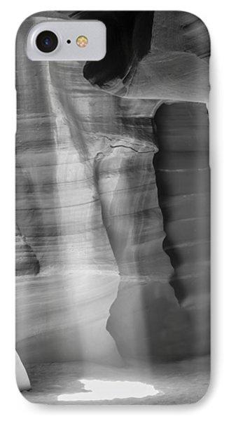 Antelope Canyon Lightbeam Bw II IPhone Case by Melanie Viola