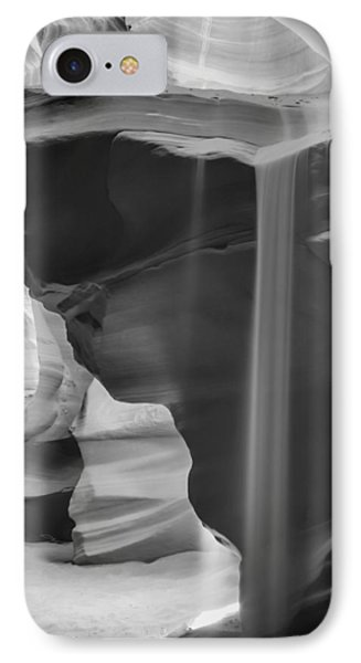 Antelope Canyon Pouring Sand Bw IPhone Case by Melanie Viola