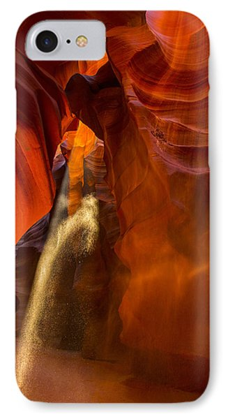 Antelope Canyon - Sand In The Light Phone Case by Angela A Stanton