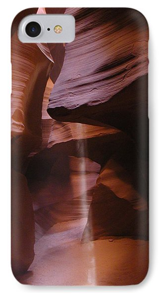 IPhone Case featuring the photograph Antelope Canyon With Light Beam by Alan Socolik