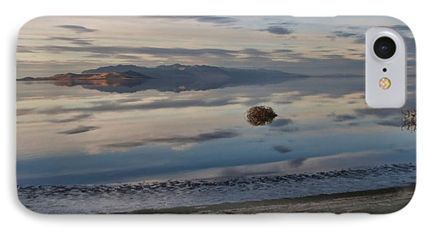 IPhone Case featuring the photograph Antelope Island - Lone Tumble Weed by Ely Arsha