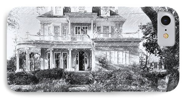 Anthemion At 4631 St Charles Ave. New Orleans Sketch IPhone Case by Kathleen K Parker