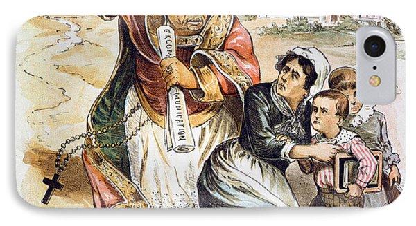 Anti-catholic Cartoon, 1889 IPhone Case by Granger