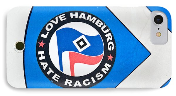 Anti-racism Sticker IPhone Case by Tom Gowanlock