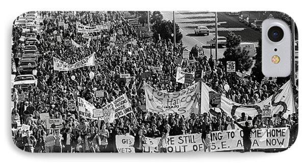 Anti Vietnam War Demonstration IPhone Case by Underwood Archives Adler