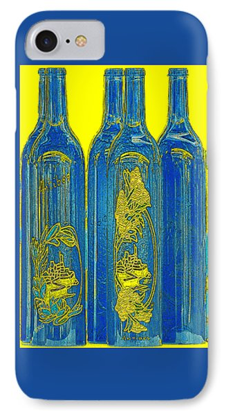 Antibes Blue Bottles IPhone Case by Ben and Raisa Gertsberg