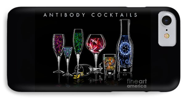 IPhone Case featuring the digital art Antibody Cocktails by Megan Dirsa-DuBois