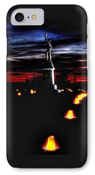 Antietam Memorial Illumination - 3rd Pennsylvania Volunteer Infantry Sunset Phone Case by Michael Mazaika