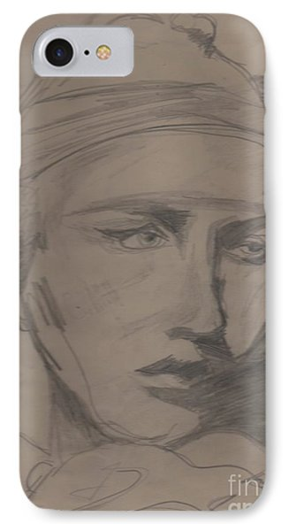 IPhone Case featuring the drawing Antigone By Jrr by First Star Art