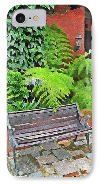 Antigua Bench IPhone Case by Maria Huntley