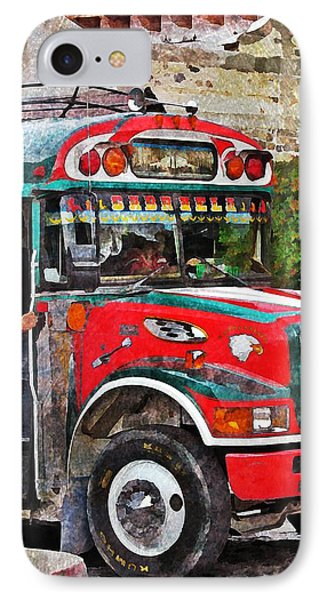 Antigua Bus Stop IPhone Case by Maria Huntley