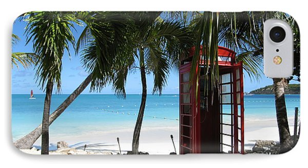IPhone Case featuring the photograph Antigua - Phone Booth by HEVi FineArt