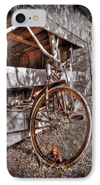 Antique Bicycle Phone Case by Debra and Dave Vanderlaan
