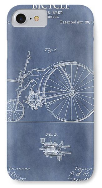 Antique Bicycle Patent 1890 IPhone Case by Dan Sproul