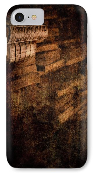 Antique Books On Dusty Book Shelves Phone Case by Loriental Photography