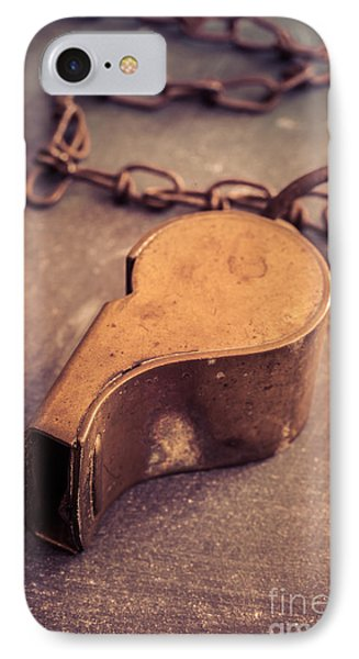 Antique Brass Military Whistle IPhone Case