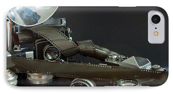 Antique Cameras IPhone Case by Gunter Nezhoda