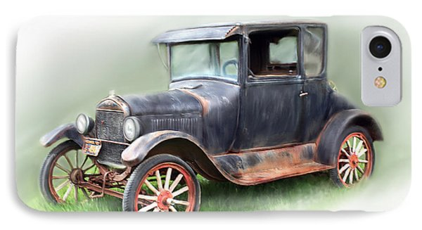 Antique Car IPhone Case by Bonnie Willis