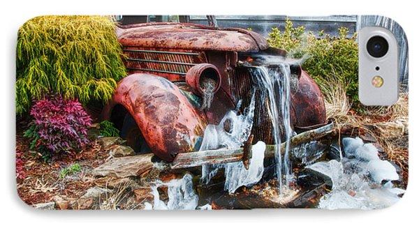 Antique Car Water Fountain Columbus Georgia IPhone Case by Vizual Studio