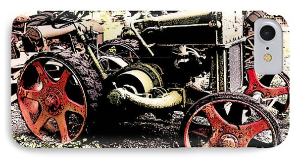 Antique Case Tractor Red Wheels IPhone Case
