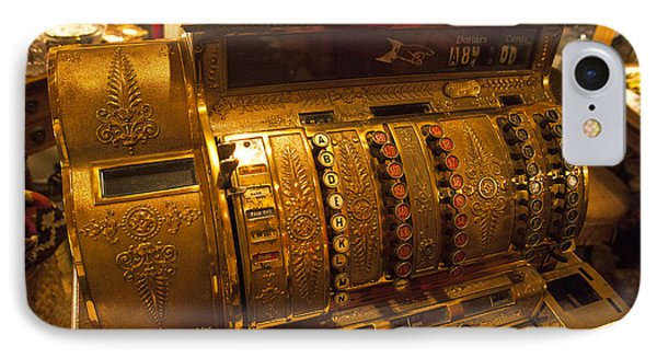 IPhone Case featuring the photograph Antique Cash Register by Jerry Cowart