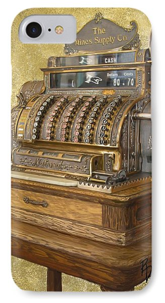 Antique Cash Register IPhone Case by Ric Darrell