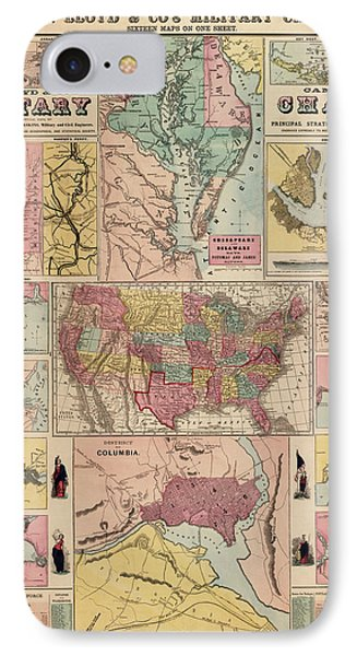 Antique Civil War Map By Egbert L. Viele - Circa 1861 IPhone Case by Blue Monocle
