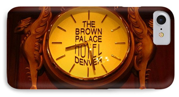 Antique Clock At The Bown Palace Hotel Phone Case by John Malone