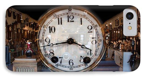 IPhone Case featuring the photograph Antique Clock Store by Gunter Nezhoda