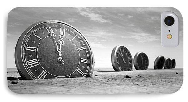 Antique Clocks In The Desert Sand IPhone Case
