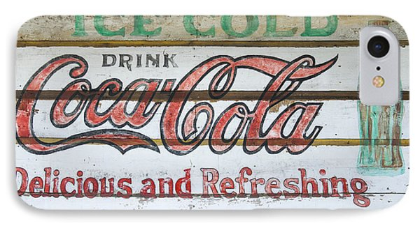 Antique Coca Cola Sign  IPhone Case by Chris Flees