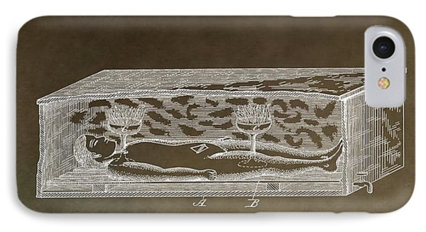 Antique Coffin Patent IPhone Case by Dan Sproul