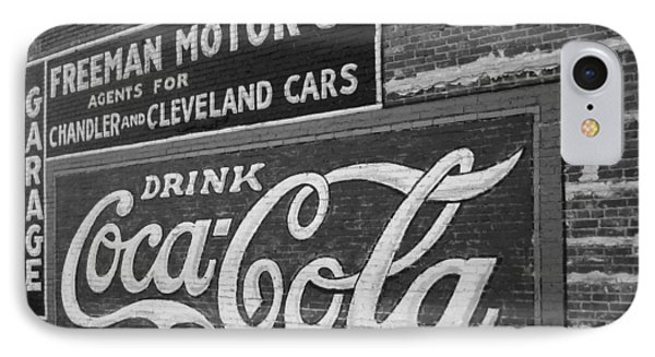 Antique Cola Sign Phone Case by Ann Powell