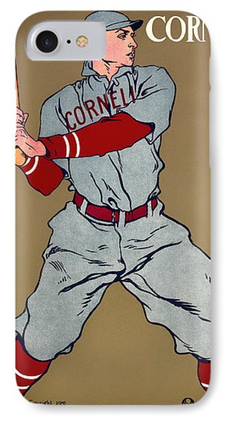 Antique Cornell Baseball Poster 1908 IPhone Case