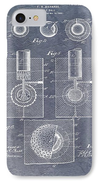 Antique Golf Ball Patent IPhone Case